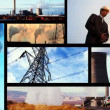 Montage of clips showing sources of heavy pollution - Stock fotografie