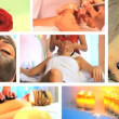Collection of health and beauty spa images — Vídeo de stock