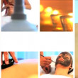 Collection of health and beauty spa images — Stock Video