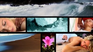 Collection of health & beauty spa images — Stock Video