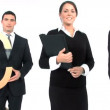 Business team standing in a row  — Vídeo Stock