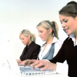 Three businesswomen working with computer — Stock Video