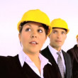Royalty-Free Stock Vector Image: Construction architect team isolated on white  motion jib