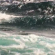 Full frame shot of waves of  clear turquoise water — Stock Video