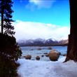 Scenes of winter & snow from the shores of Lake Tahoe — Stock Video #19421141