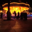 Fairground carousel at night in London at Christmas — Stock Video