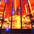 Stock Video: Fairground carousel at night in London at Christmas