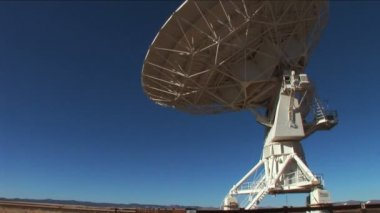 Radio telescope (Very Large Array) — Stock Video