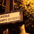 Stock Video: Avenue des Champs-Elysees street sign in Paris