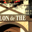 Stylish shops on a boulevard in the Loire valley — Stock Video