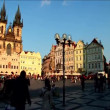 Old square in city of Prague - Stock Photo