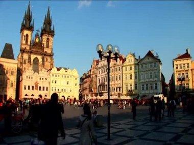 Kent prag'ın eski meydanda — Stok video