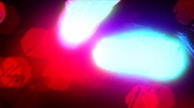 Rozproszone kolorowych świateł w nocy — Wideo stockowe
