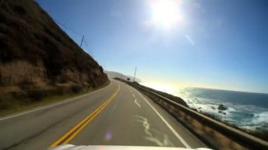 Timelapse point-of-view driving the Pacific coast highway — Stock Video