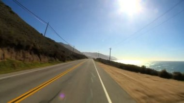 Point-of-view driving the Pacific Coast highway — Stock Video