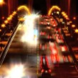 Timelapse of busy night traffic crossing the Golden Gate Bridge — Stock Video #19562747