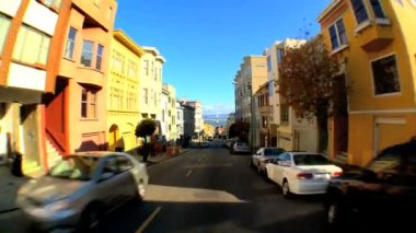Point-of-view driving the streets of San Francisco — Stock Video