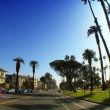 Point-of-view with fish-eye driving along the Pacific Coast - Stockfoto