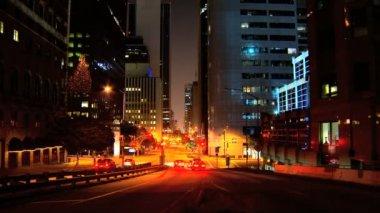 Gece trafik downtown La Timelapse — Stok video
