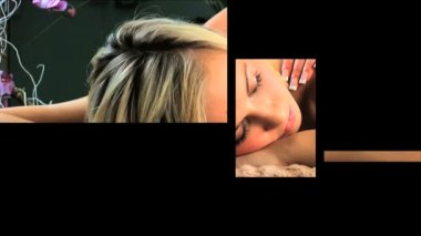 Multiple moving panels of health & beauty spa scenes, images — Stock Video
