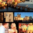 Montage shots of Prague capital city of Czech Republic — ストックビデオ
