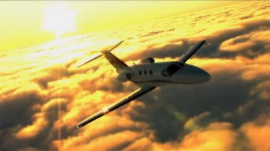 Business travelling by private jet — Stock Video