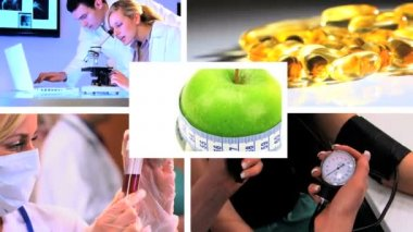 Montage of medical & healthcare scenes, images — Stock Video