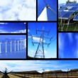 Montage of moving images of renewable energy & power sources — Wideo stockowe