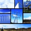 Montage of moving images of renewable energy & power sources — Vídeo Stock