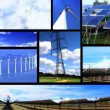 Montage of moving images of renewable energy & power sources — Stockvideo