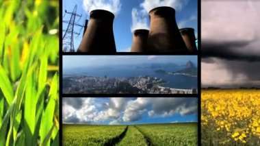 Montage of moving images of biofuel production & use — Stock Video