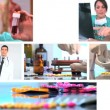Montage of medical healthcare scenes & images — Stock Video