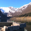 Stock Video: Crystal clear waters of glacial fjords