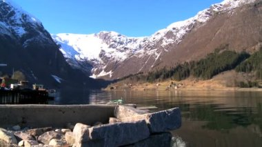 Crystal clear waters of glacial fjords — Stock Video