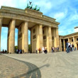 Visiting the Brandenburg Gate in Berlin,Germany - Stock Photo