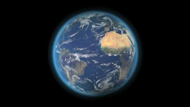 Earth globe rotating on a seamless loop in HD — Vidéo