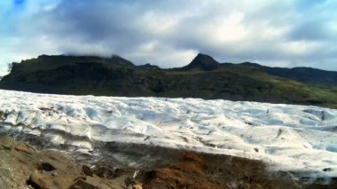 Harsh landscape of Vatnajokull glacier, Iceland — Stock Video