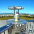 Tourism binoculars on the observation deck of Pearl Museum, Iceland — Stock Video