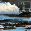 Stock Video: Steam coming from hot volcanic springs bubbling to the surface