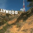 Hollywood Sign on L.A. Hillside - Zdjęcie stockowe