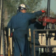 Manual Workers on Oil Rig — Stock Video
