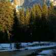 Snow in Yosemite National Park  — Stock Video
