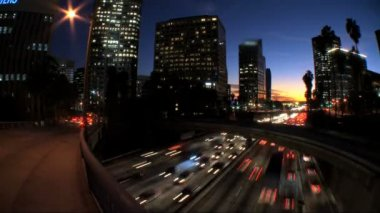 Time-lapse City Traffic Pollution — Stock Video