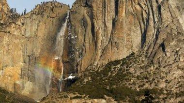 Waterfall in Yosemite National Park — Stock Video