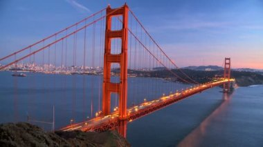 Time-lapse Traffic on Golden Gate Bridge — Stock Video