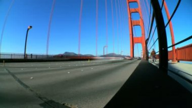 Time-lapse Golden Gate Bridge with Fish-eye — Stock Video