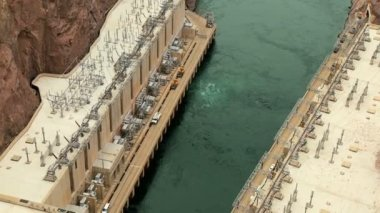 Hoover Dam Producing Hydro-electricity — Stock Video