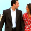 Stock Video: Attractive young couple making plans for their wedding day