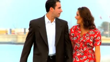 Attractive young couple making plans for their wedding day — Stock Video