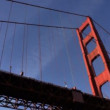 Point-of-View Beneath Golden Gate Bridge - Foto Stock